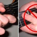 Một số hướng dẫn cơ bản cho tay trái khi chơi guitar